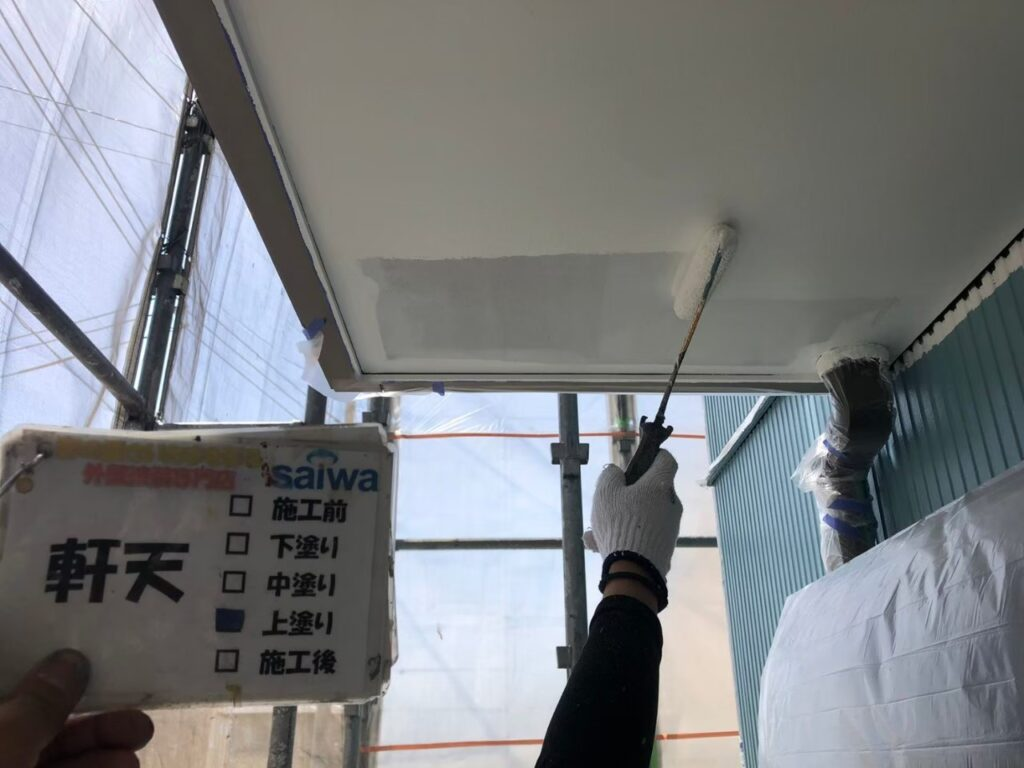 住宅 天井塗装 カビ 白