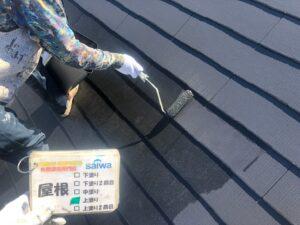 屋根の上塗り 日本ペイント サーモアイ