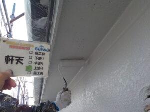 天井塗装 住宅軒天 塗装