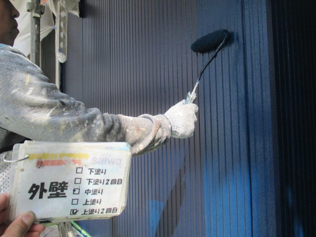 外壁塗装 特注色 上塗り 日本ペイント
