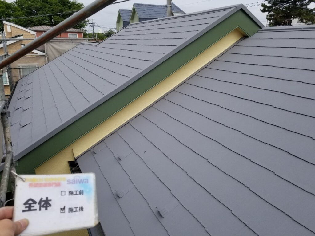 屋根の塗装 ガイナ N-50