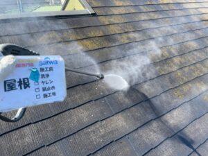 屋根の塗装 施工前 屋根遮熱塗装 洗浄