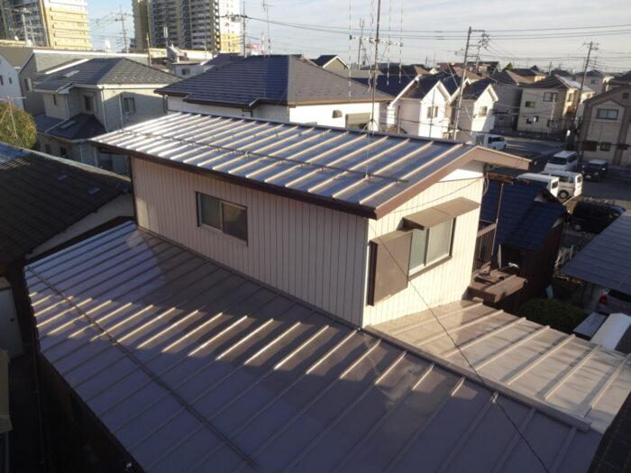 屋根の塗装 トタン屋根 サーモアイ 遮熱塗装