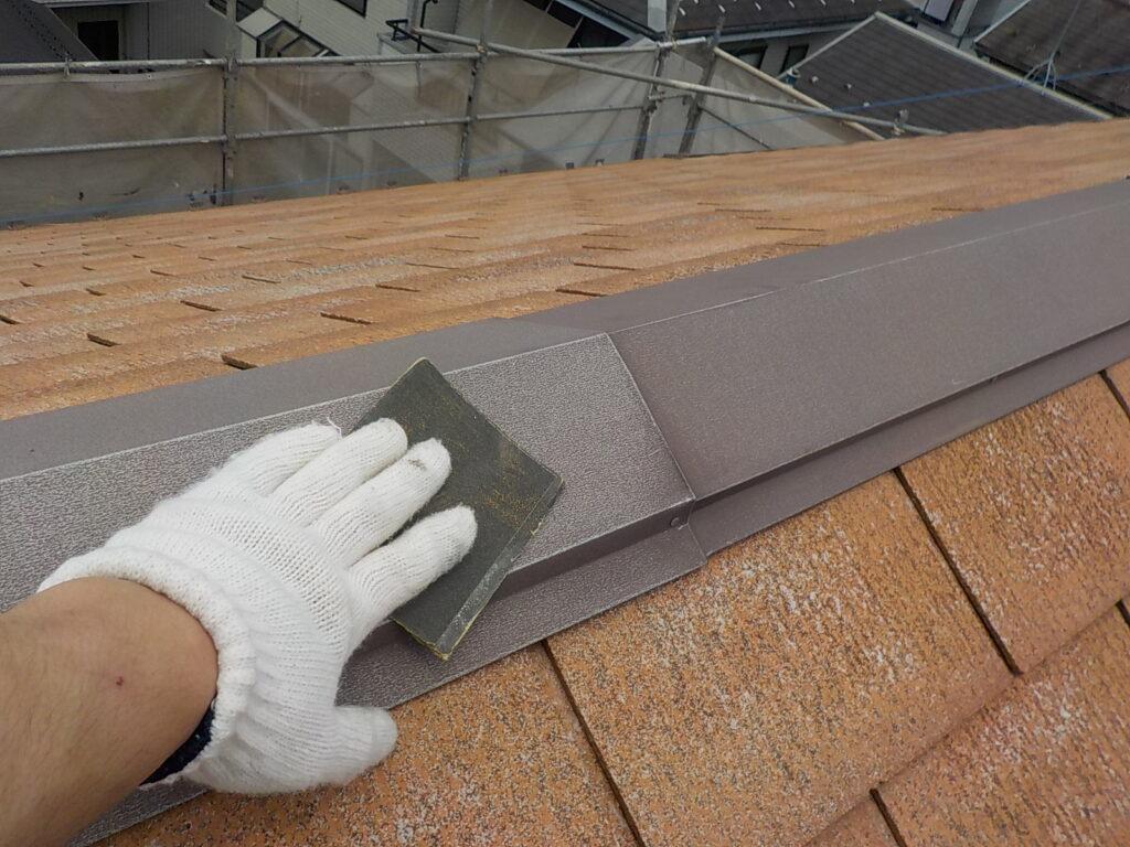 屋根 ケレン作業 さいたま市西区 塗装