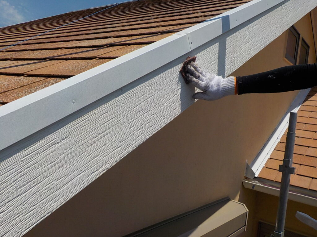 破風 ケレン作業 目荒らし 下地処理 さいたま市西区塗装
