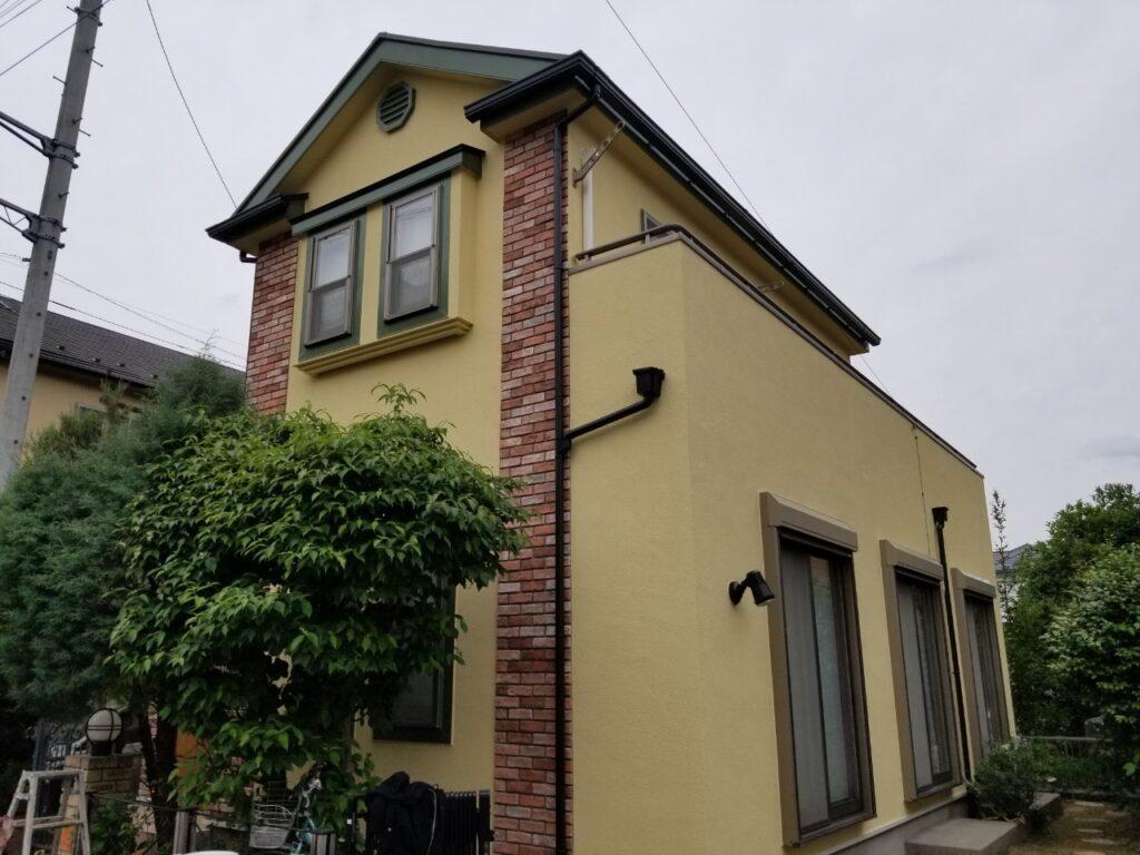 さいたま市 屋根外壁塗装工事 ガイナ スムースプラスター