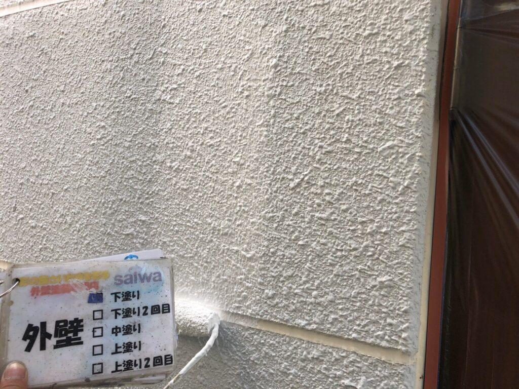 外壁下塗り 塗装工事
