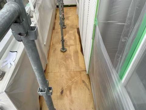 雨漏り調査 雨漏り119 コンパネ貼り付け 雨漏り下地