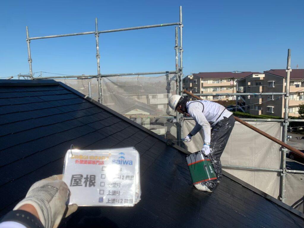 屋根 上塗り パーフェクトトップさいたま市 屋根塗装 施行前 外壁塗装 アパート塗装