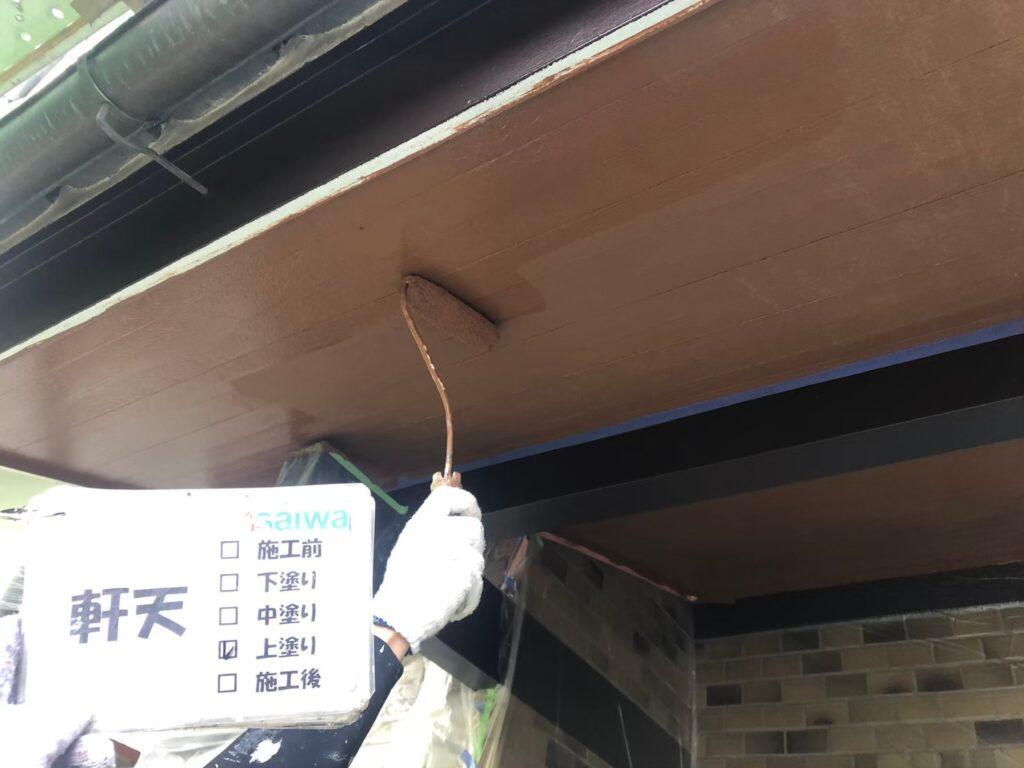 軒天施工前 軒の塗装 天井塗装 木部の塗装