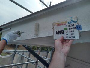 破風塗装 下地処理 塗装リフォーム さいたま市塗装工事