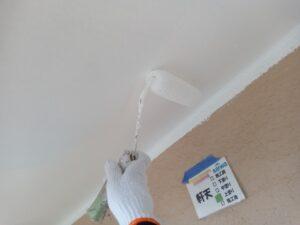 軒天塗装 上塗り さいたま市 屋根塗装 外壁塗装