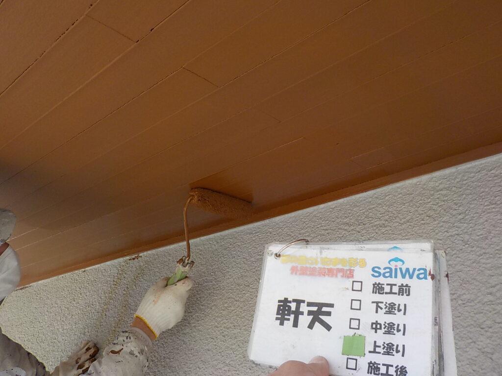 軒天の塗装 木部塗装 木部の劣化 住宅塗装