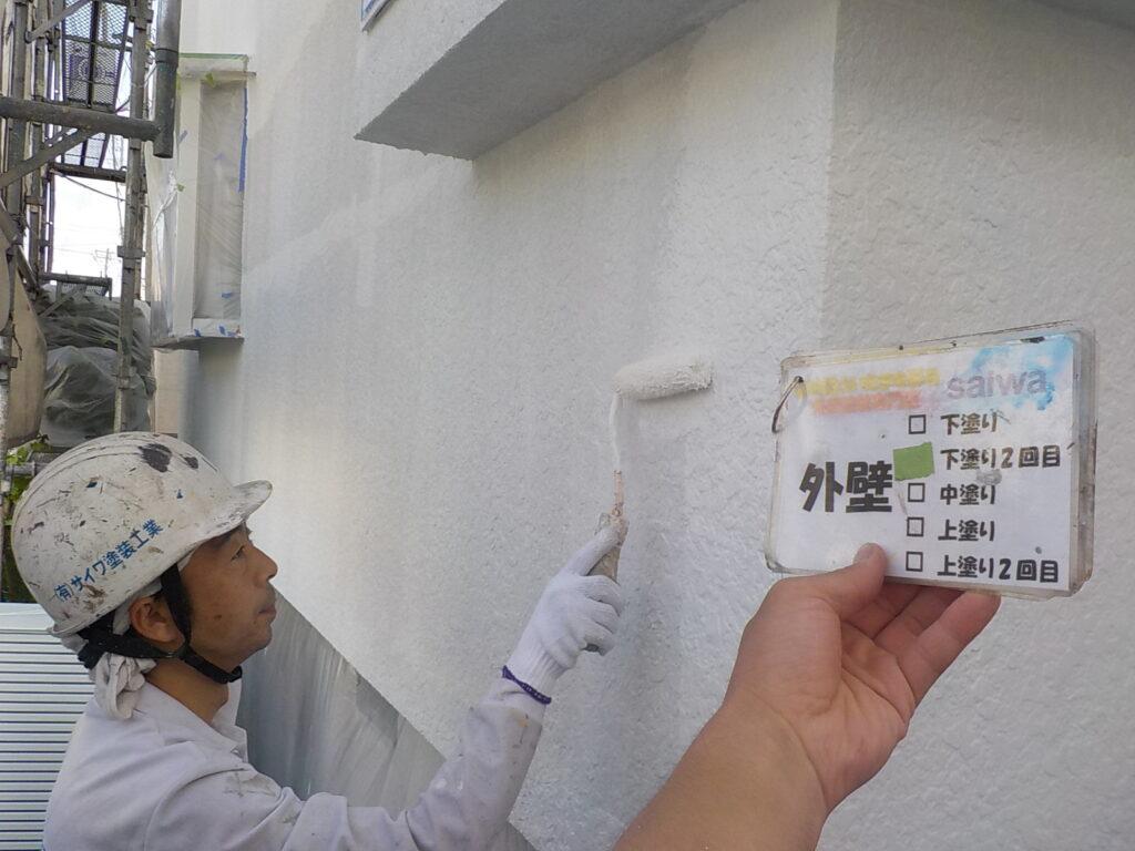 外壁塗装 中塗り ND-400 パーフェクトトップ