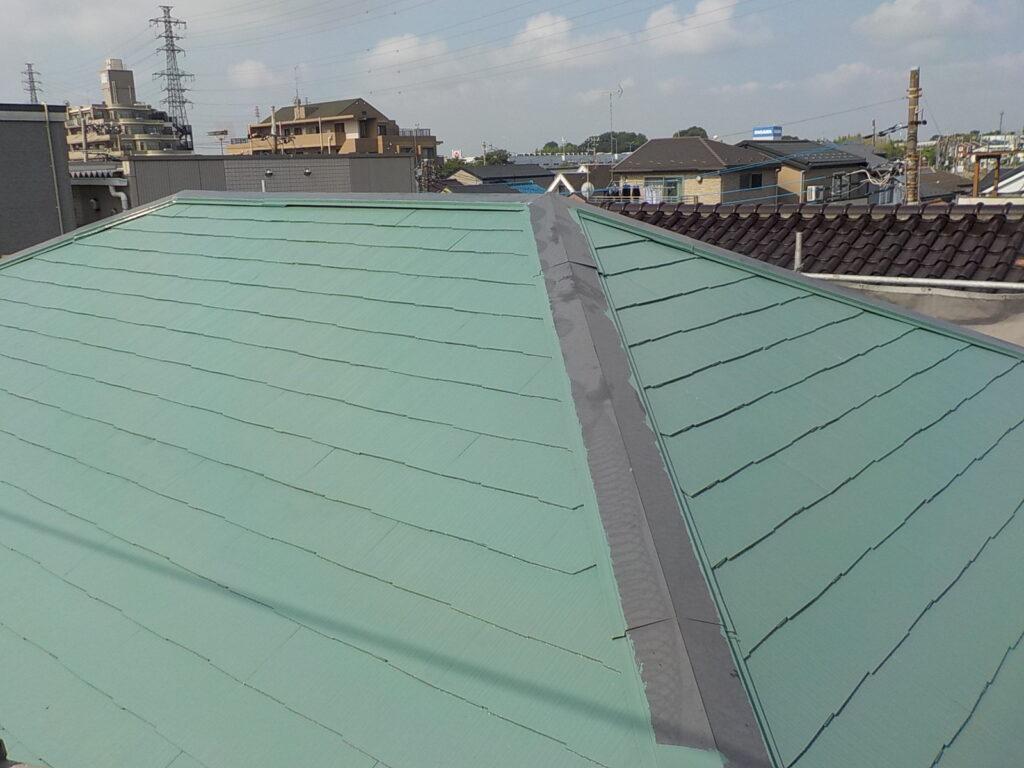 屋根の塗装 棟板金交換 塗装 さいたま市塗り替え