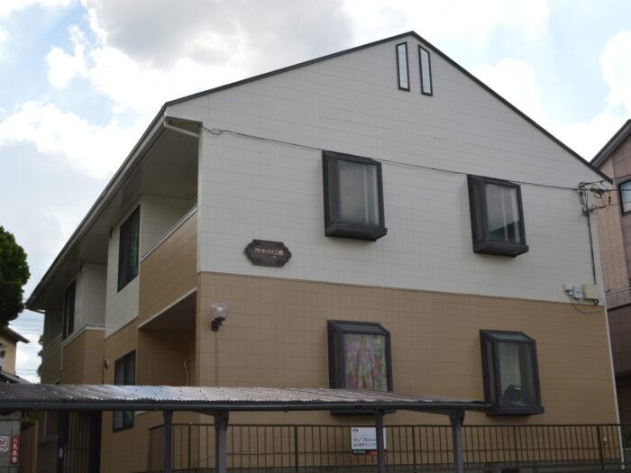 塗装後 施工後 全景 さいたま市 屋根塗装 外壁塗装 アパート塗装