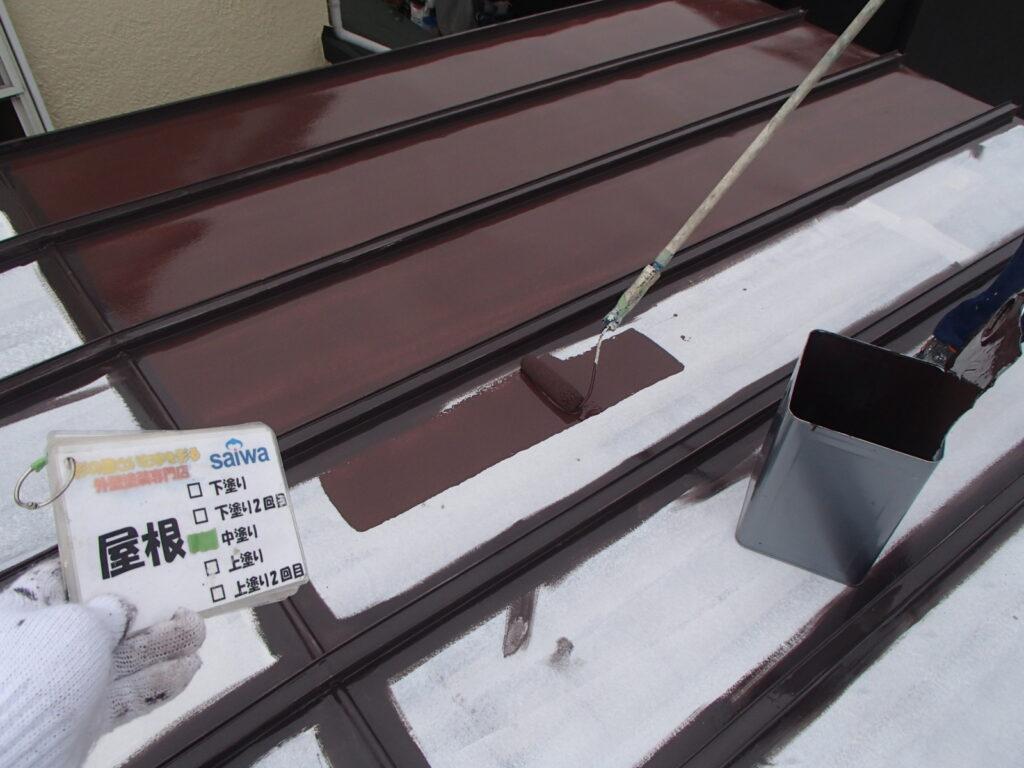 トタン屋根塗装 クールトリノブラウン サーモアイ