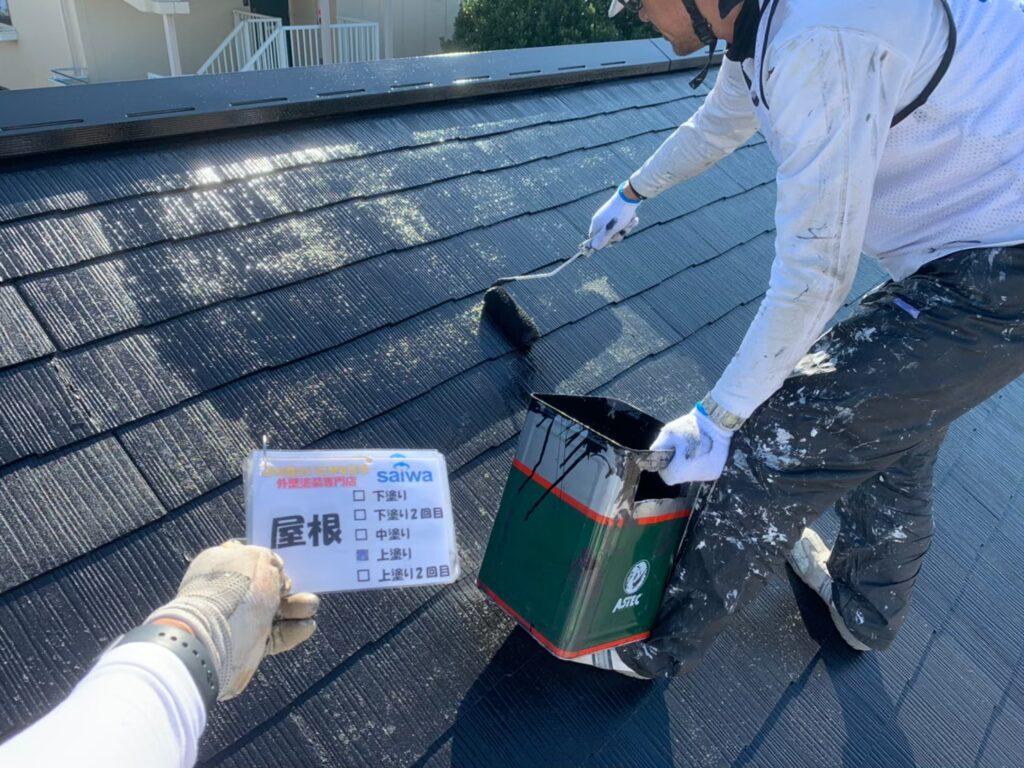 屋根 上塗り さいたま市 屋根塗装 施行前 外壁塗装 アパート塗装