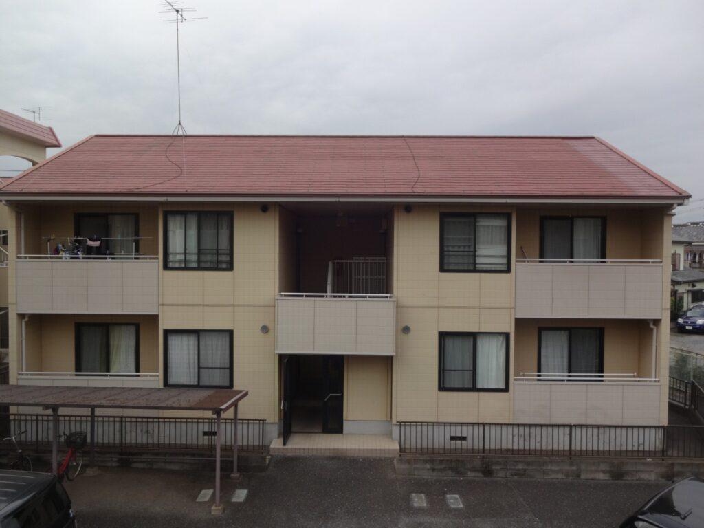アパート塗装 施行前 全景 さいたま市 西区 外壁塗装 屋根塗装