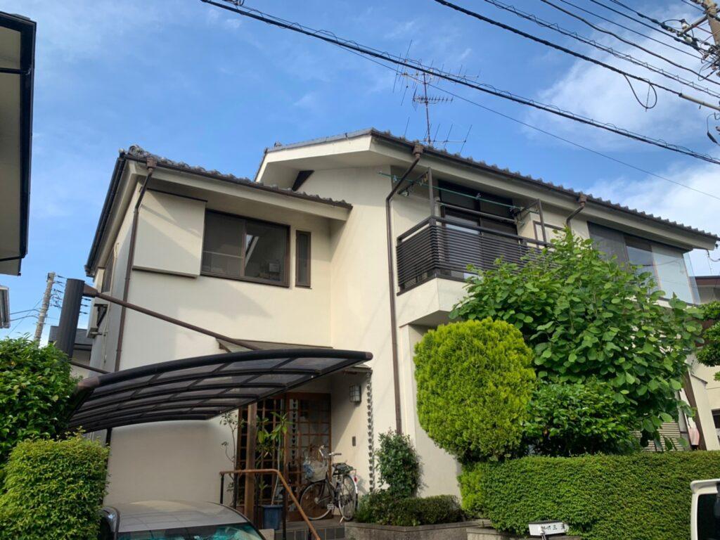 外壁塗装 ホワイト外壁 塗装工事 日本ペイント