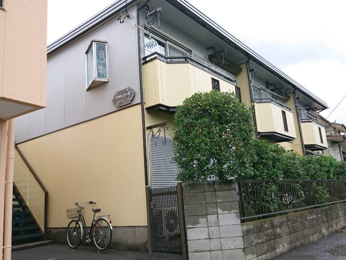 西区土屋アパート塗装 塗装工事 外壁塗装