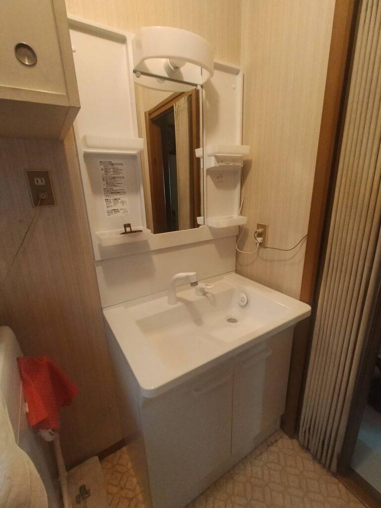 脱衣所 洗面 洗面の交換 取付