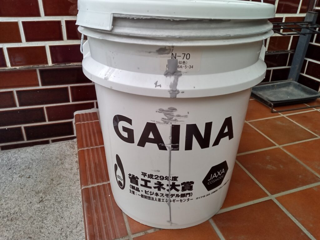 使用塗料 日進産業 GAINA N-70 さいたま市 外壁塗装