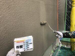 外壁上塗り2回目 さいたま市 屋根塗装 外壁塗装