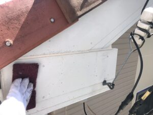 ケレン 庇の塗装 施工事例 施工写真