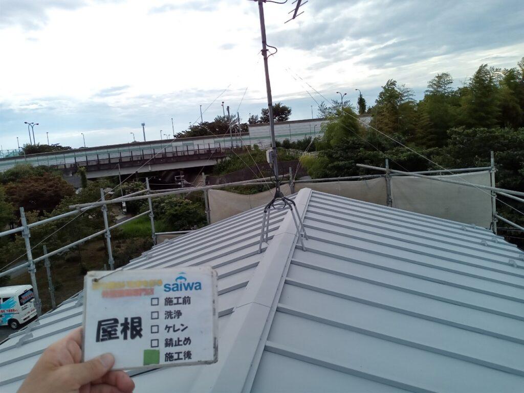 屋根塗装 施工後 GAINA 塗り替え さいたま市