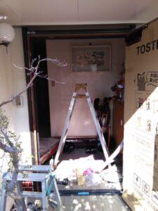 既存ドア枠撤去 玄関工事 玄関リフォーム リシェント 1日 リクシル