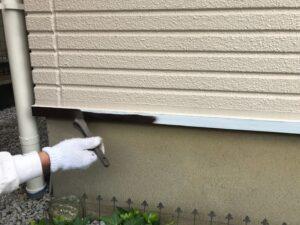 中塗り 水切り塗装 塗装工事