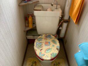 トイレ 施工前 交換工事