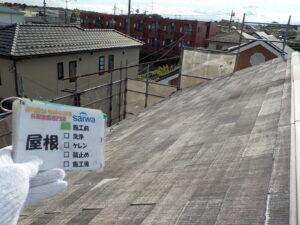 屋根の施工前状況 屋根色褪せ 塗膜劣化
