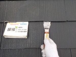 屋根の塗装 縁切り タスペーサー取付