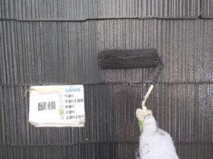 屋根上塗り ローラー 遮熱塗装 上塗り
