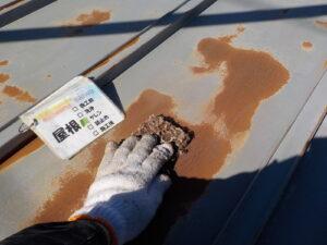 屋根の塗装 錆 折半屋根の塗装