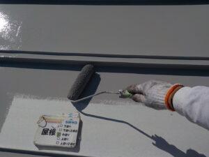 屋根の塗装 折半屋根 ローラー塗装