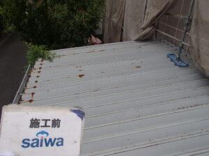 錆 折半屋根 塗装