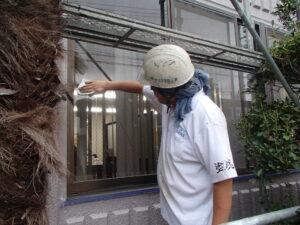 窓の清掃 折半屋根塗装 塗装 住宅リフォーム