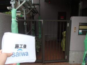 扉塗装 柵塗装 日本ペイント さいたま市塗装