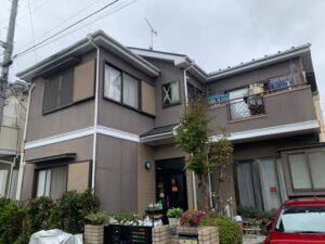 塗装前 施工前 全景 さいたま市 屋根塗装 外壁塗装