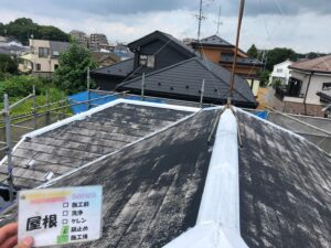 屋根塗装 錆止め 施工後 棟板金 さいたま市 外壁塗装